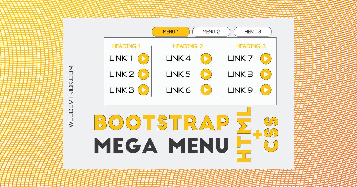 Bootstrap Mega Menu With CSS   Responsive Multiple Row Menu