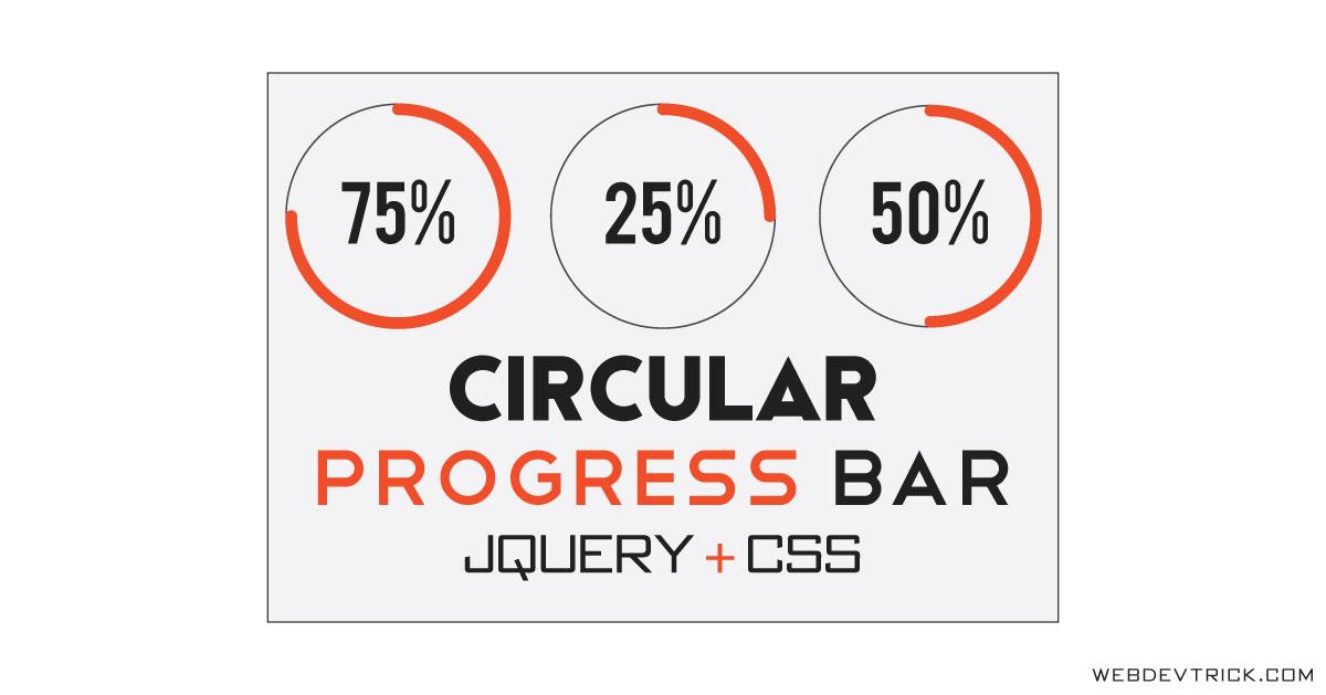 jQuery Circular Progress Bar With CSS | Circle/Radial