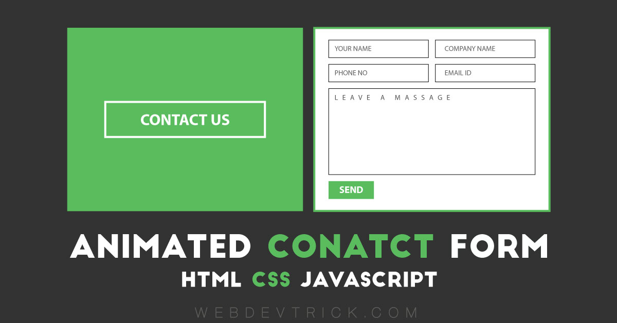 Contact Form With Flip Animation Effect | Using HTML, CSS, & JavaScript