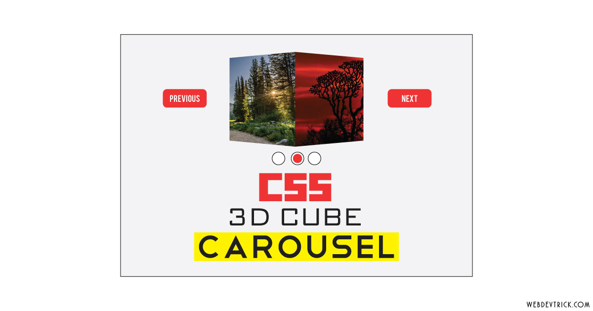 CSS 3D Cube Carousel With jQuery | HTML Cube Image Gallery Slider