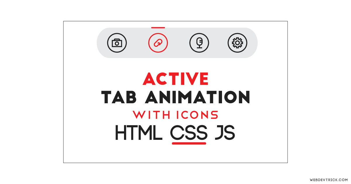 CSS Active Tab Animation With Icons | Animated Active Tab Slider