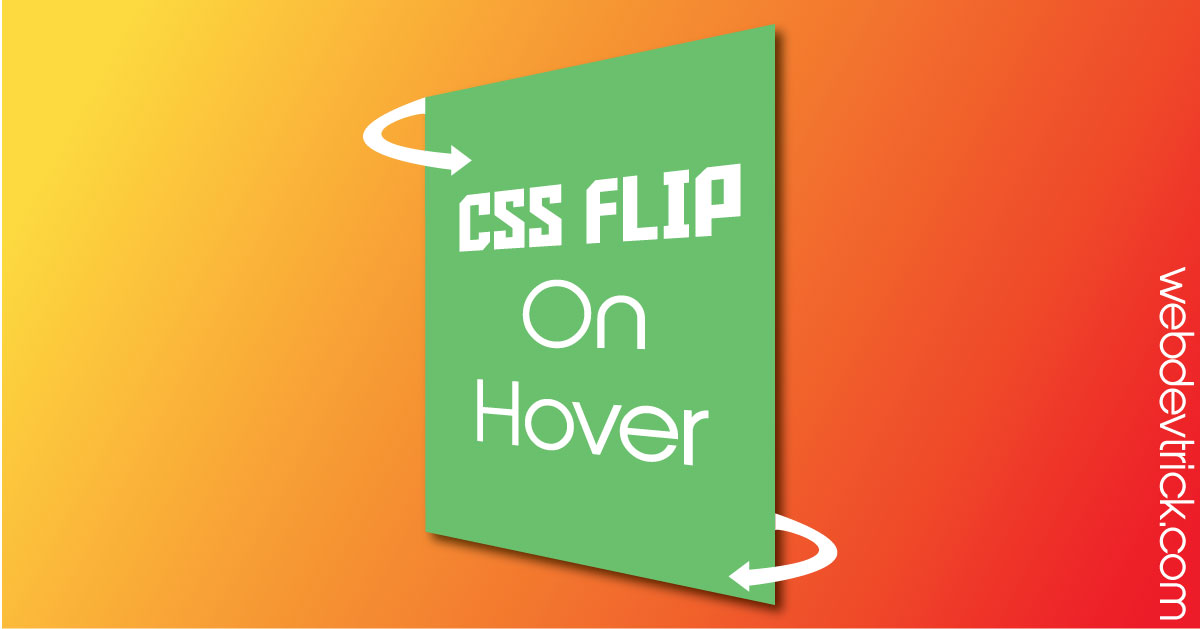 CSS Flip Effect On Hover | 3D Flip Effect With HTML & CSS