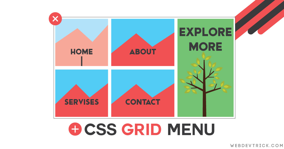 CSS Grid Menu Layout With Display Flex | Responsive Grid Design