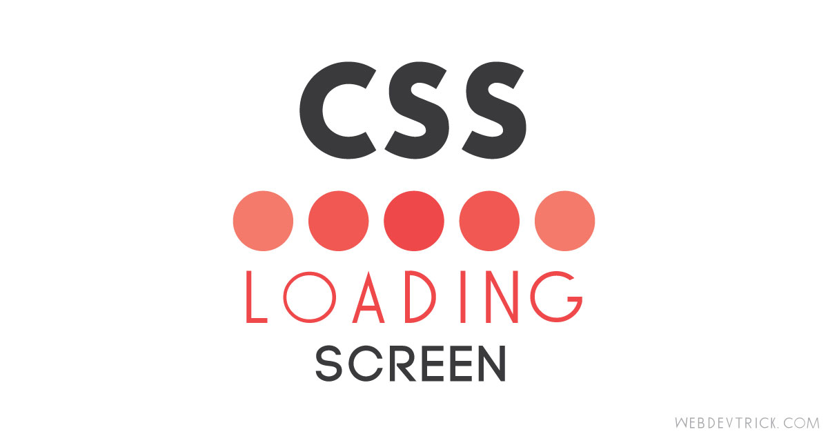 CSS Loading Screen Animation | GIF Type Preloader