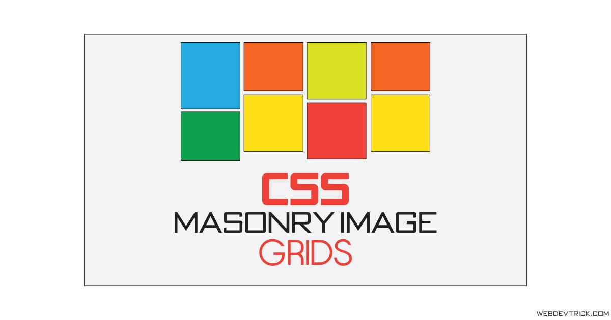 CSS Masonry Image Grid Layout | Responsive Grid Column