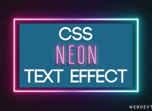 CSS Neon Text Effect With Animation | Glowing Text In HTML CSS