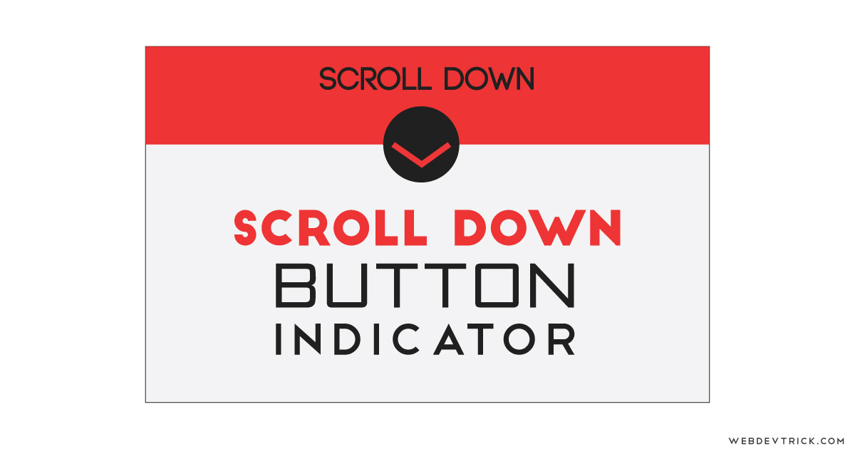 CSS Scroll Down Arrow Animation With JavaScript | Scrolling