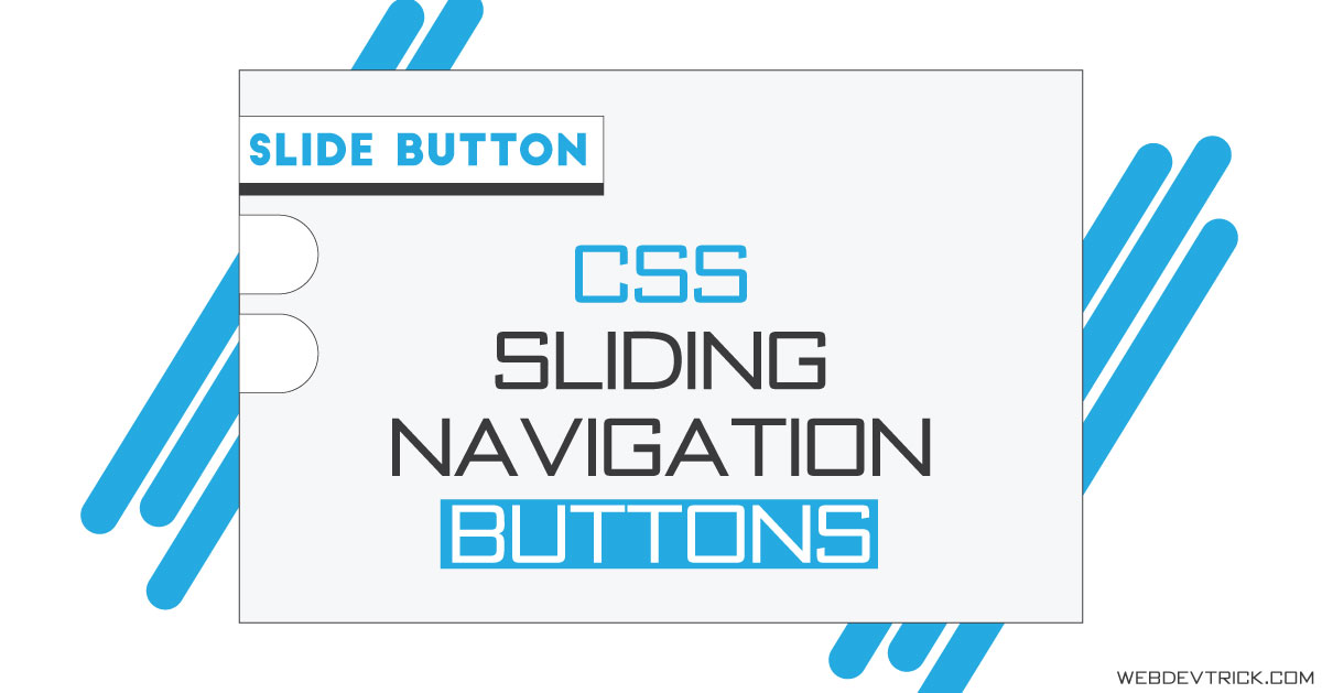 CSS Sliding Navigation Buttons On Hover | Pure HTML CSS