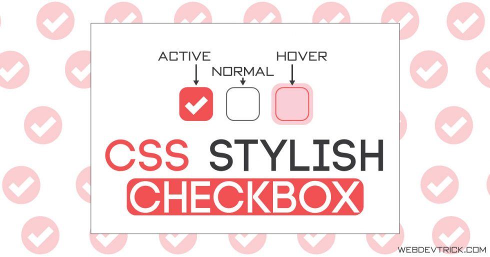 CSS Style Checkbox With Animated Tick Mark | Pure CSS Input