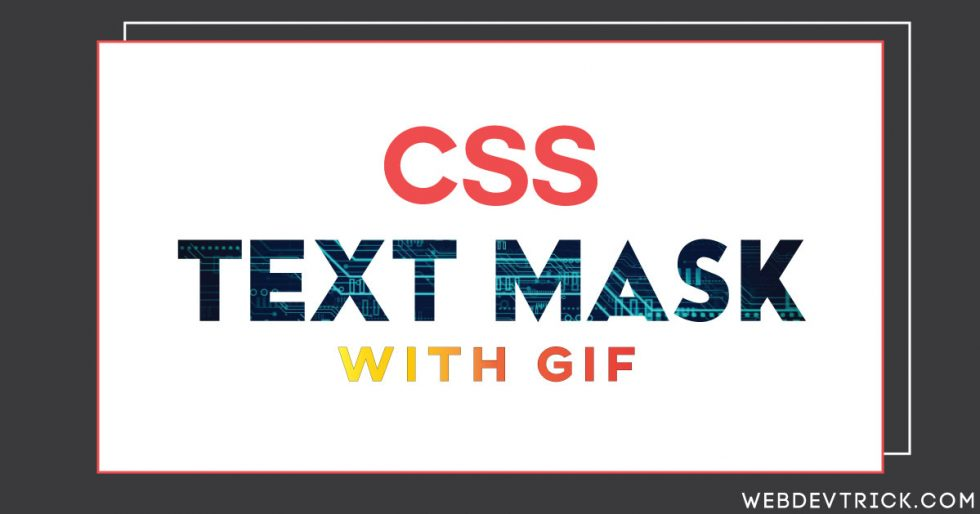 Animated CSS Text Mask With GIF | Masking In HTML CSS