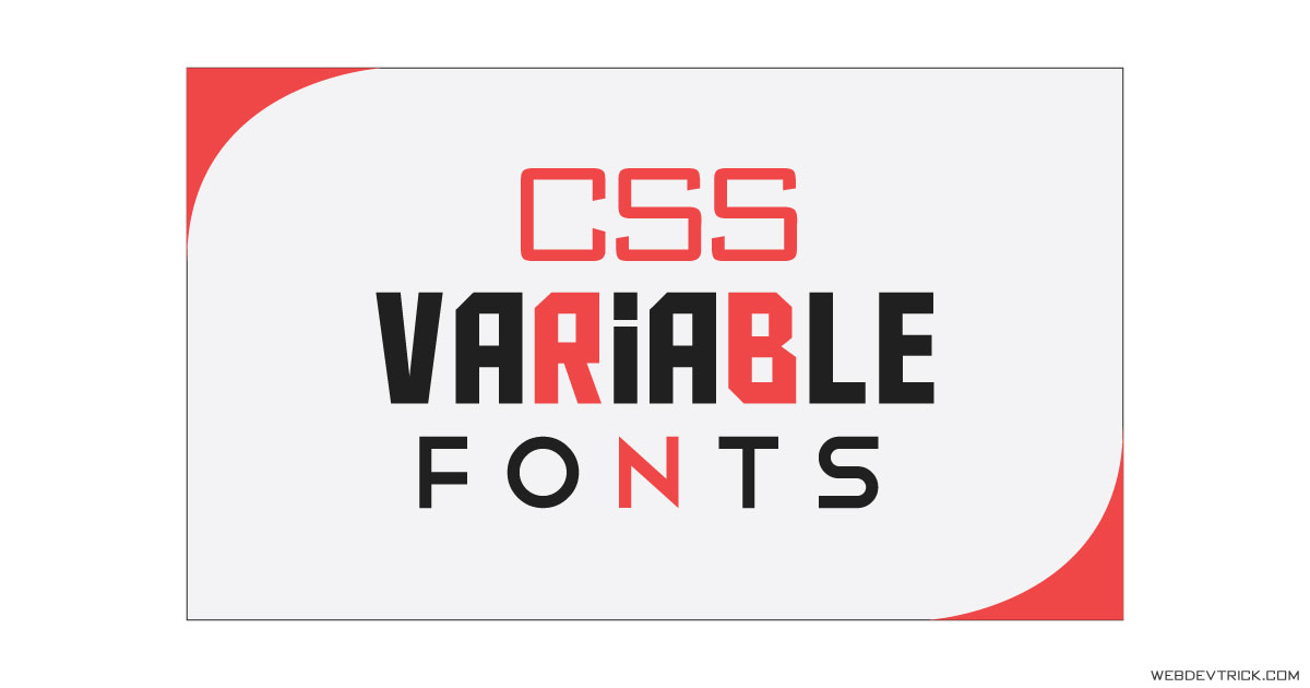 CSS Variable Font Style With Split Character | Variable Text