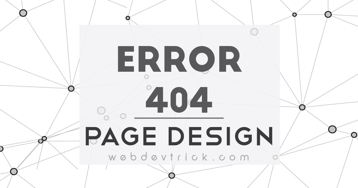 Error 404 Page With Html Css Javascript Example Source Code