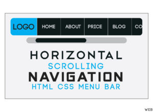 Horizontal Scroll Navigation Using HTML CSS | Scrolling Menu Bar