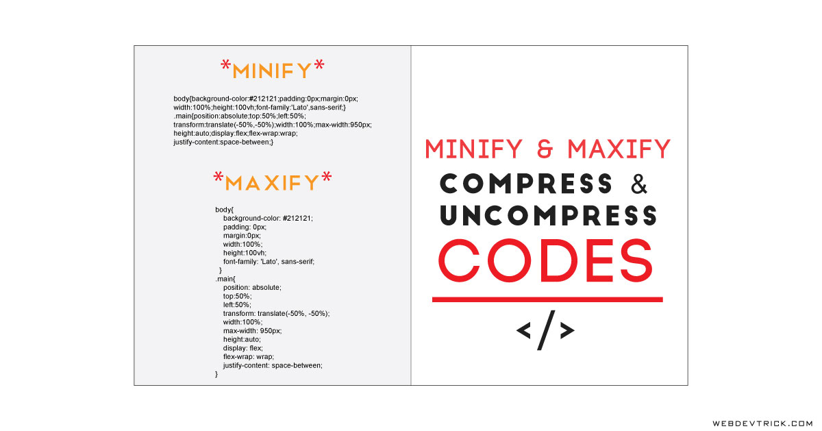 HTML CSS Beautifier and Minifier | Code Minify and Beautify