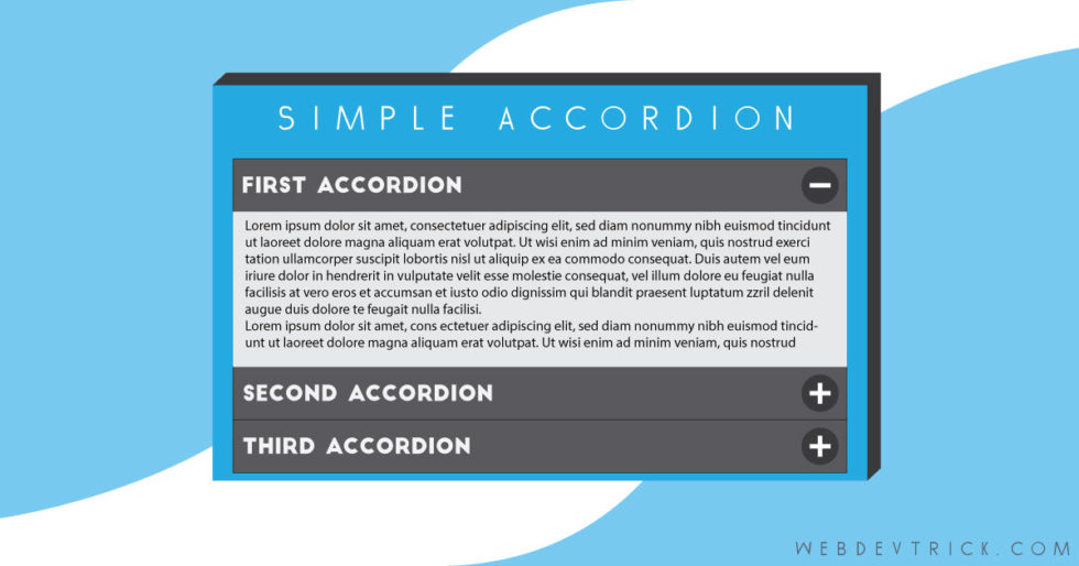 simple html  css  and javascript accordion