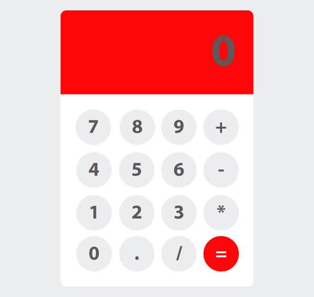 Basic JavaScript Calculator Source Code | HTML, CSS | Web ...