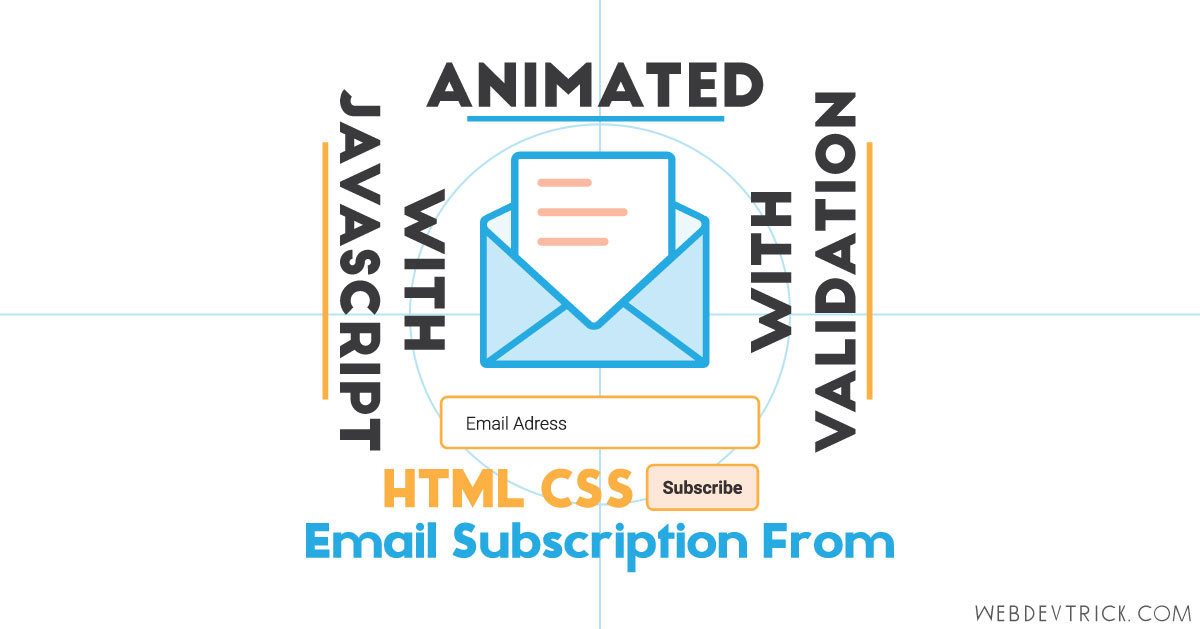 Newsletter Signup Form HTML CSS JavaScript | Animated With Validation