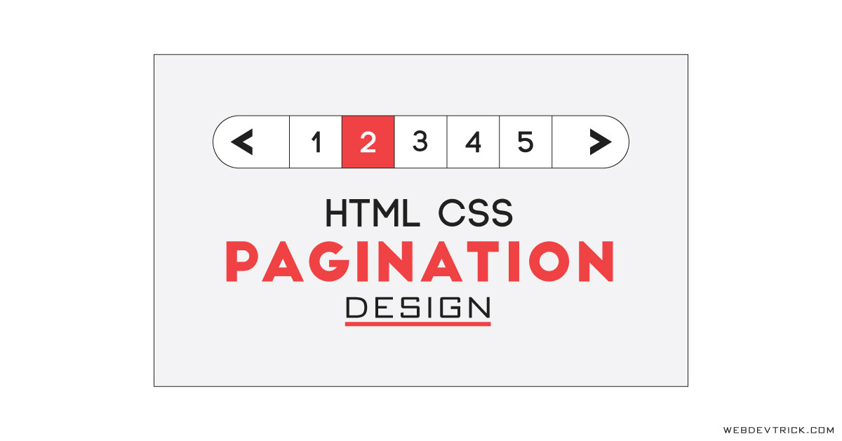 HTML CSS Pagination Design | Roundie Pagination UI