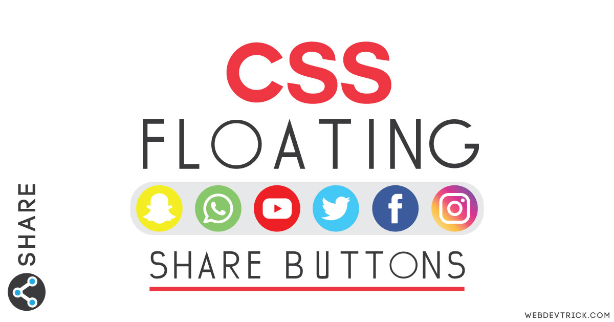 CSS Social Share Buttons | HTML CSS Floating Social Media Icons