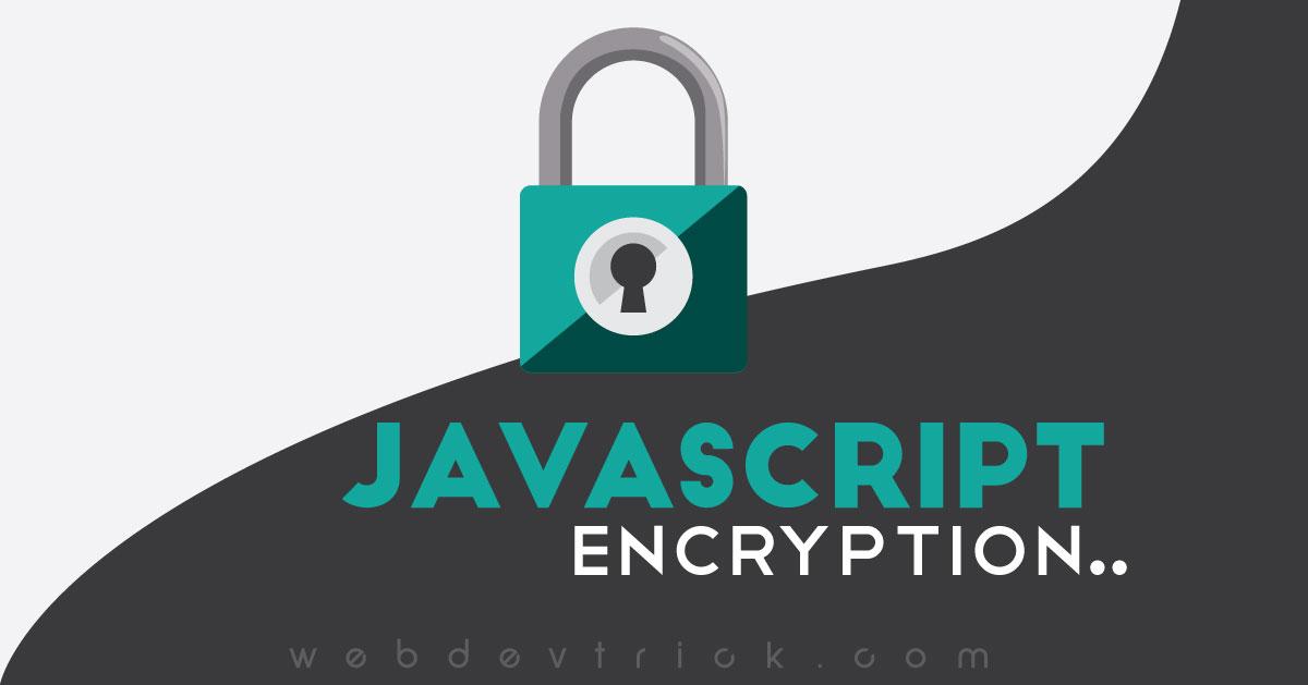 JavaScript Encrypt & Decrypt | Simple Encryption Program