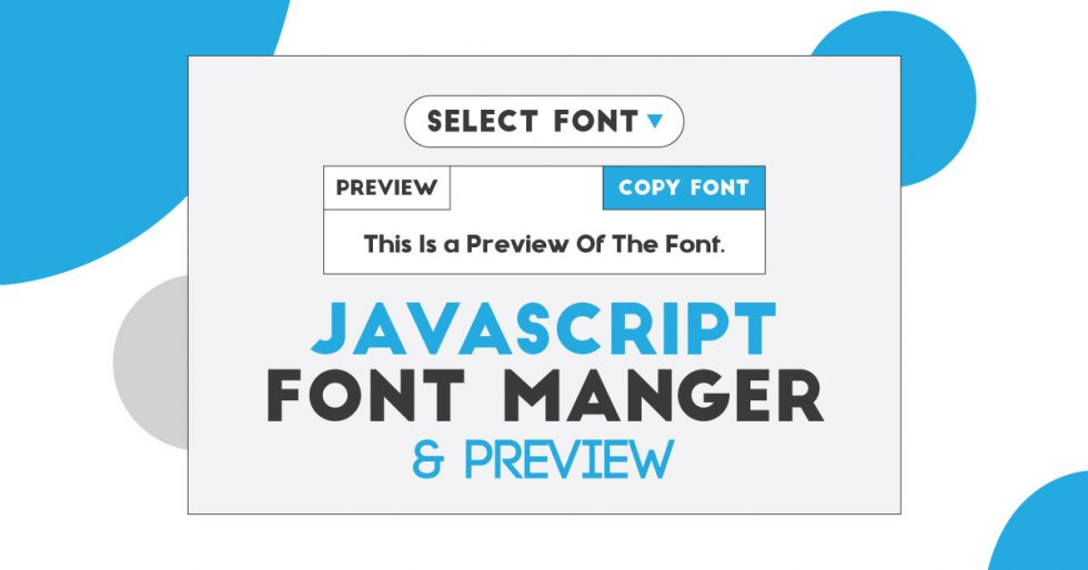 JavaScript Font Preview With Google Fonts | Fonts Manager & Preview