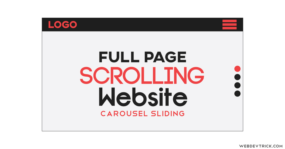JavaScript Full Page Scrolling Website With CSS | Full Page