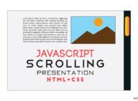 Horizontal Scroll Navigation Using HTML CSS | Scrolling Menu Bar