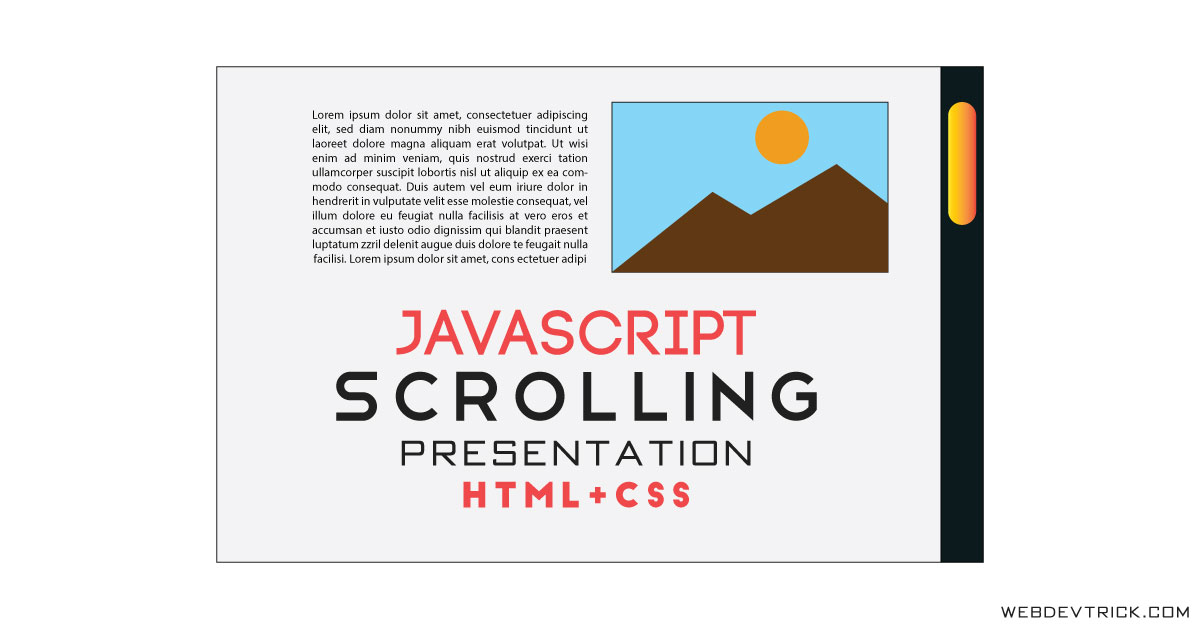 JavaScript Scrolling Presentation HTML CSS | Image Change On Scroll