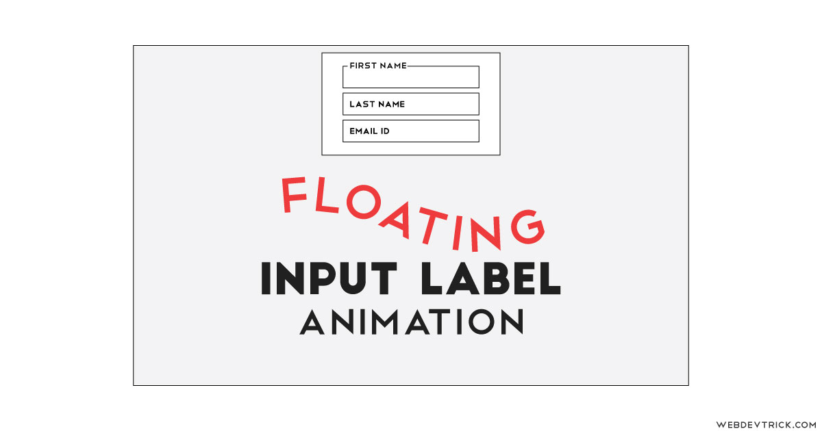 jQuery Floating Label Animation With CSS | Form Input Label