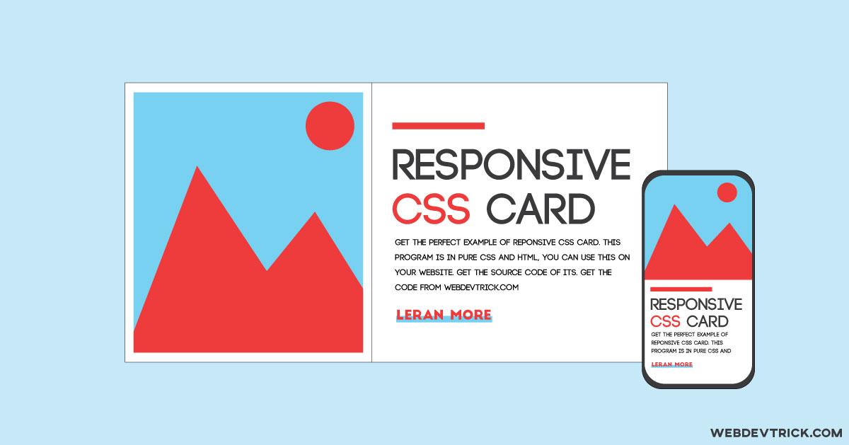 Responsive CSS Flexbox Design | Pure HTML CSS Flex Card