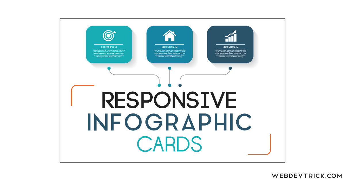 CSS Responsive Infographic Cards | Flexbox Info Cards