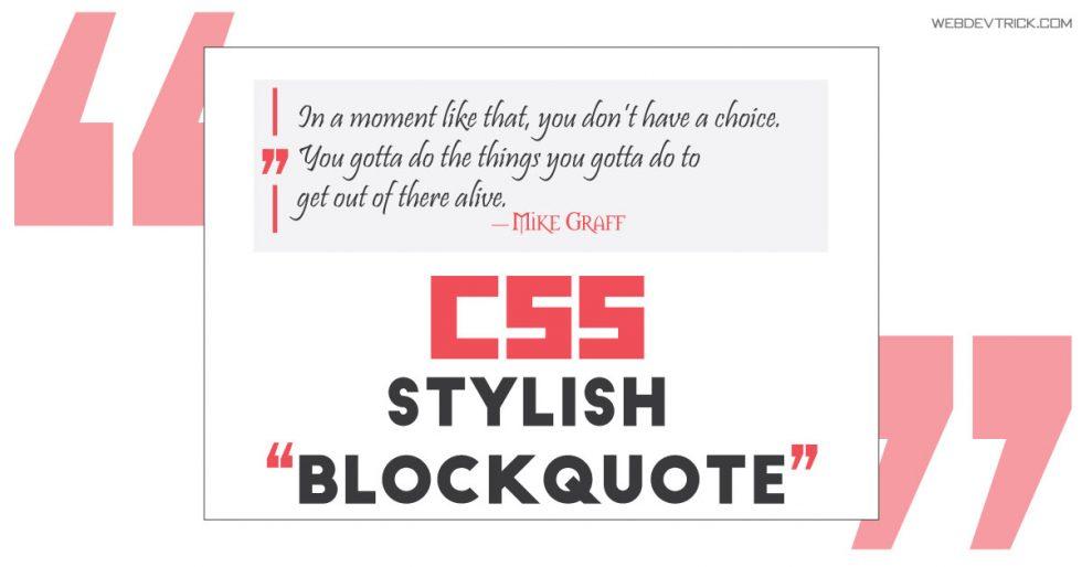 Stylish CSS Blockquote Design | Pure CSS & HTML Blockquote
