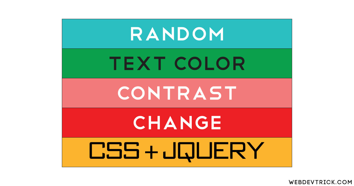 Random Text Color Contrast Generator Using CSS and JavaScript